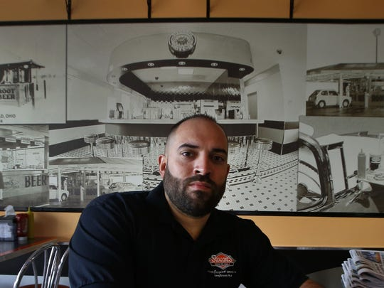Daniel Pinheiro, co-owner of Corner Bistro & Cafe and Stewart's Root Beer at Pier Village in Long Branch, is suing his landlord Kushner Cos., saying he is being wrongfully evicted.