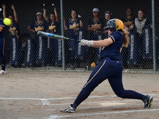 Hannah Mourad, who has 14 RBI this season, drives in