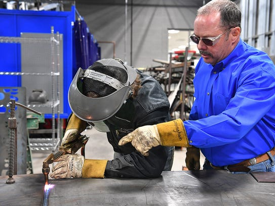 Career Education Center welding teacher Gary Cunningham
