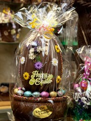 Build a better easter basket a chocolate easter basket centerpiece is for sale at negle Images