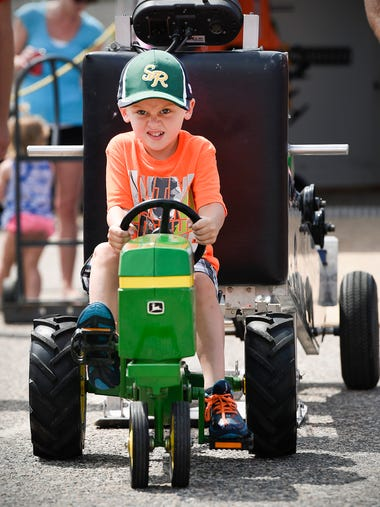 Pierson Weeres, 5, Rice, peddles with all he has in