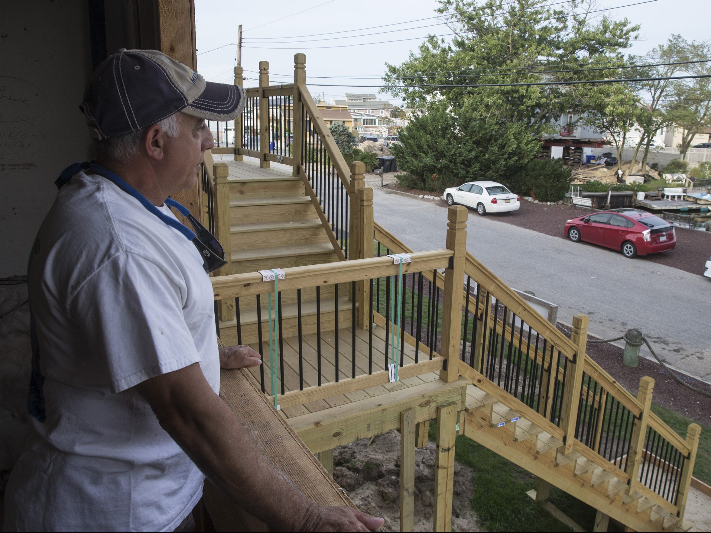 Rich Bindell and his wife Allison hired contractor Jamie L. Lawson to repair their superstorm Sandy damaged home. After taking thousands for work performed, Lawson abandoned the project. The house still remains unfinished with a new contractor hired to complete the job.  Toms River, NJ Thursday, September 21, 2017 @dhoodhood