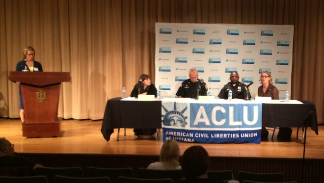 The American Civil Liberties Union of Indiana conducted a forum about policing, race and criminal justice reform Wednesday at Indiana University East.