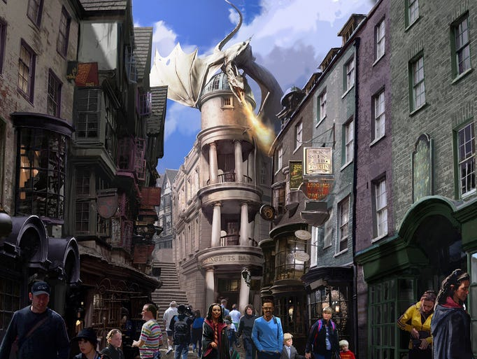 The Wizarding World of Harry Potter -- Diagon Alley will open this summer at Universal Studios Florida.