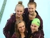 Seaholm's 200-yard medley relay team of GiGi Novak, Allie Russell, Linnea Anderson and Haley Dolan placed second at the recent OAA Red Division meet.