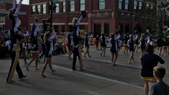 The University of Wisconsin-Eau Claire cheer-leading