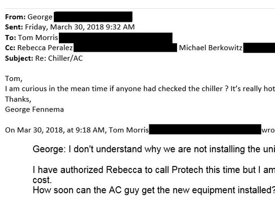 Emails between George Fennema, owner of Chelsea's Pub