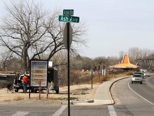 The intersection of Aztec Boulevard and Ash Street is pictured March 21 in Aztec.