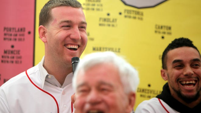 """Reds third baseman Todd Frazier responds to a young fan's question about whether he was the best baseball player on his team when he was school with a simple, """"Yes, I was,"""" during a question and answer session."""