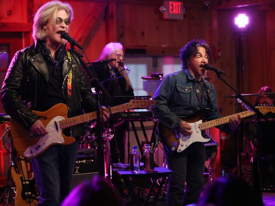 Daryl Hall and John Oates along with Train's Pat Monahan perform a private concert at Daryl's House in Pawling April 3, 2018. The concert was for radio station contest winners from all across the country and was kicking off Hall and Oates and Train's summer tour.