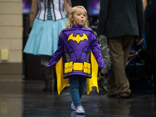 London Wasinger, 4, of Maryville walks around at the