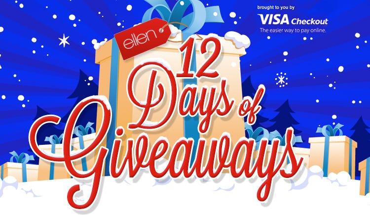 Ellen degeneres twelve days of giveaways