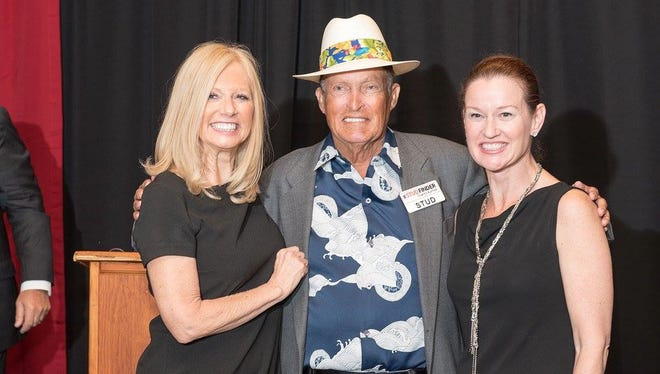 Come to this year's Mr. StudFinder charity auction on March 23! You never know whIch celebrities will be in attendance. Here are, from left, Susan Maxwell, Chi Chi Rodriquez and Nina Ferraro.