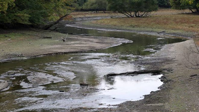 The Oradell Reservoir on the Hackensack River had been depleted by the drought earlier this year.