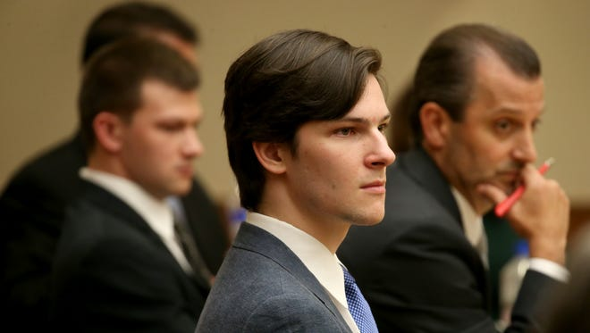Alexander Rideout during opening statements in the Craig Rideout murder case.