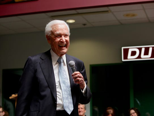 Bob Barker during a previous visit to Drury University.