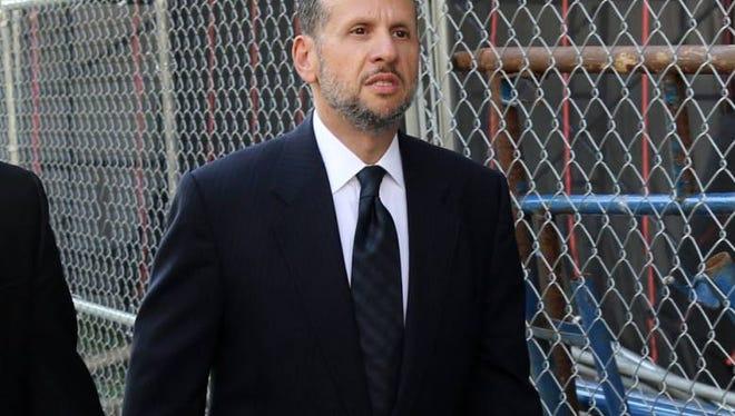 David Wildstein enters federal court to testify in the Bridgegate trial.