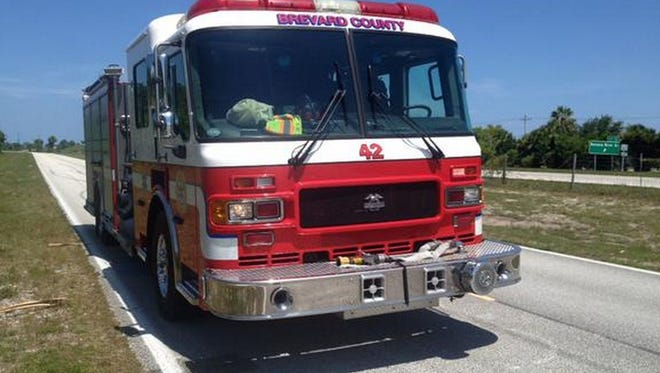 Brevard County Fire Rescue Engine 42 responded to a fire in Merritt Island on Saturday afernoon.