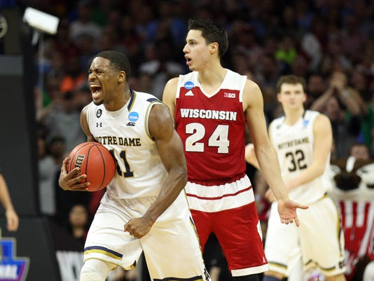 NCAA Basketball: NCAA Tournament-East Regional-Wisconsin vs Notre Dame