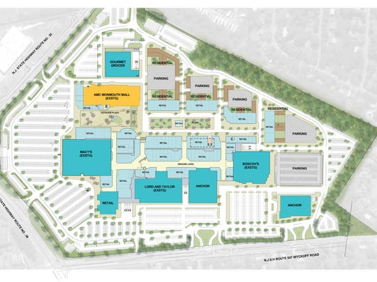 Conceptual designs show the layout of the proposed Monmouth Town Center