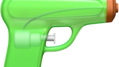 Apple replaces its pistol emoji with a lime green squirt gun.