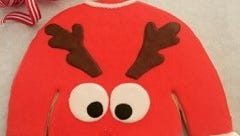 """""""Ugly sweater"""" Christmas cookies from Di Lena's DiLena's Dolcini"""