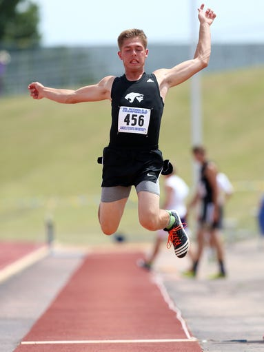 Water Valley's Tyler Simmons flies through the air
