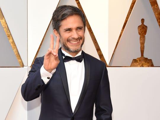 Gael Garcia Bernal at the 90th Annual Academy Awards