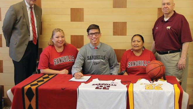 Cherokee senior Dustin Johnson has signed to play college basketball for Sandhills Community College.