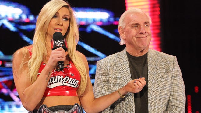 WWE superstar Charlotte says her father, Ric Flair, is her biggest fan.
