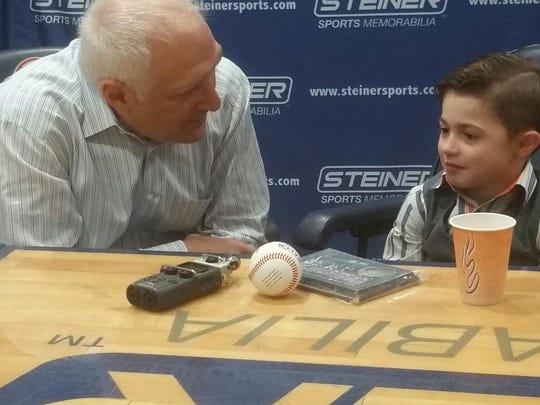 Jamesy Raffone chatted with sports memorabilia mogul