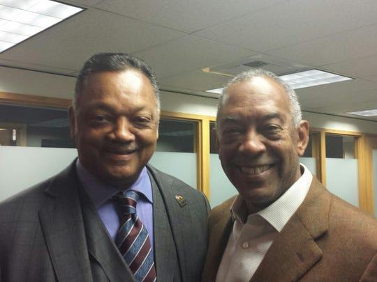 Rev. Jesse Jackson with Microsoft Chairman John Thompson