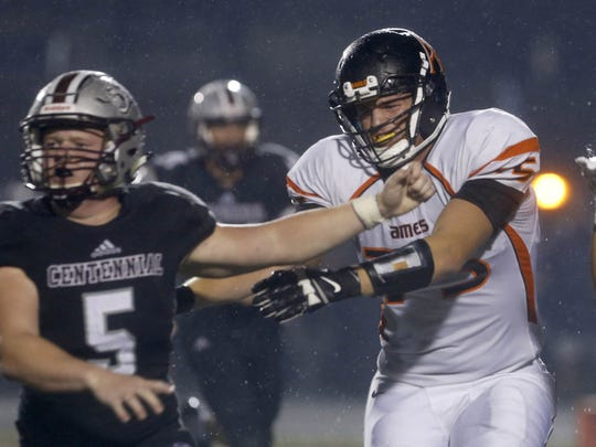 Ames offensive lineman Colin Newell committed to Iowa State Saturday.