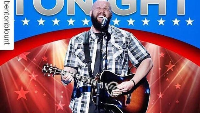 "Greenville singer Benton Blount advanced to the next stage of the ""America's Got Talent"" competition."
