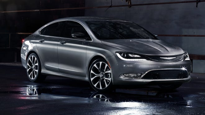 The redesigned 2015 Chrysler 200 midsize sedan being unveiled this week at the Detroit Auto Show.