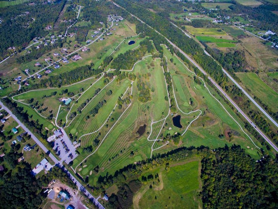 An aerial shot of the Champlain Country Club in 2015.