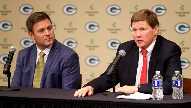 Green Bay Packers President and CEO Mark Murphy and general manager Brian Gutekunst will hit the road this weekend to conduct interviews for the team's head coach position.