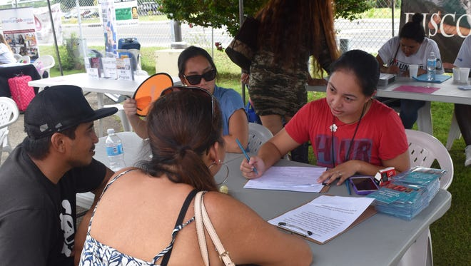 at Guam Homeless Coalition's Passport to Services at the Hagåtña Community Center on April 28, 2017.