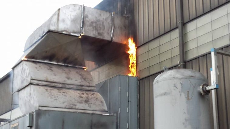 Flames at Cascade Die Casting in Sparta were reported