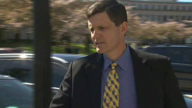 Washington State Auditor Troy Kelley arriving at his