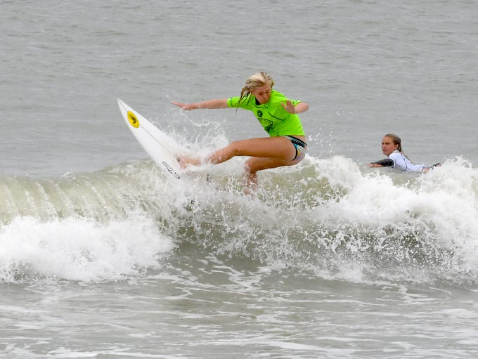 Caitlin Simmers in the semi-finals.The final day of