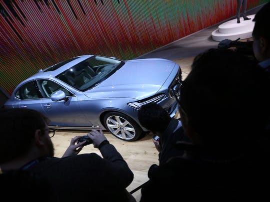 2016 Volvo S90 is revealed during the 2016 North American International Auto Show held at Cobo Center in downtown Detroit on Monday, January 11, 2016.  Jessica J. Trevino/Detroit Free Press