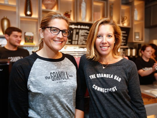 Julie Mountain, left, and Dana Noorily, co-owners of The Granola Bar, photographed at the Rye location in 2017.