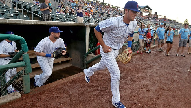Kris Bryant takes the field during his time with the Iowa Cubs. Bryant became a popular player in Des Moines along with Javier Baez and Anthony Rizzo.