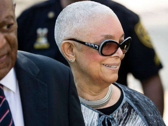 Bill Cosby's wife Camille Cosby accompanied him to