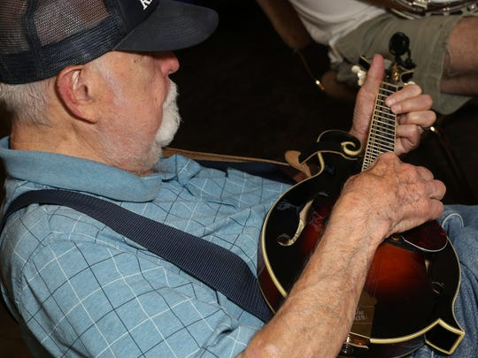 Bert Hudson takes part in a jam session at the VFW on Thursday, Aug. 17. The jam sessions are held weekly.