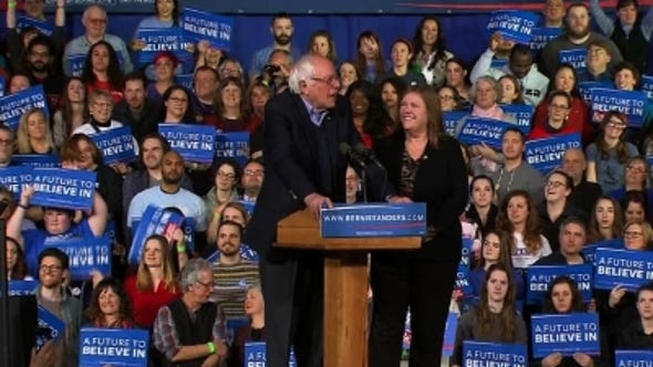 Bernie Sanders celebrates win in Vermont, says fight is far from over