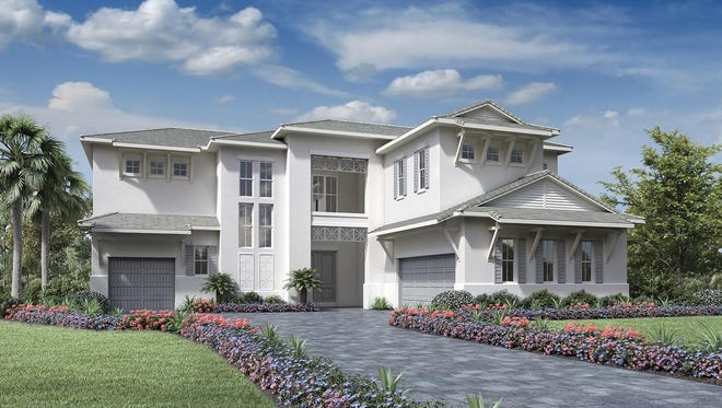 The 4,405-square-foot Trinidad home design is offered in the Signature Collection at Azure at Hacienda Lakes.