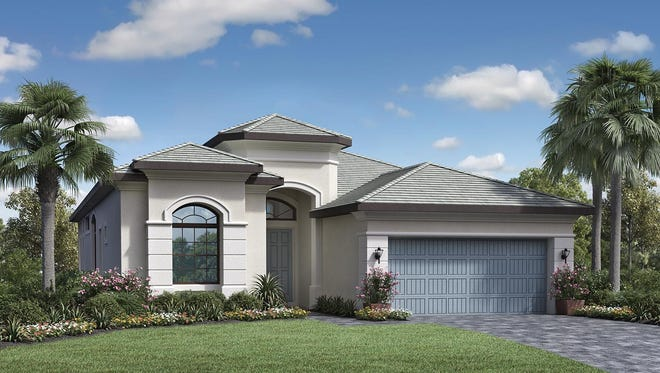 The El Paso at Palazzo at Naples is offered in four exterior designs including The Versailles, pictured here.