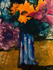 """""""Spring flowers"""" painted by Kathleen Evens is part"""